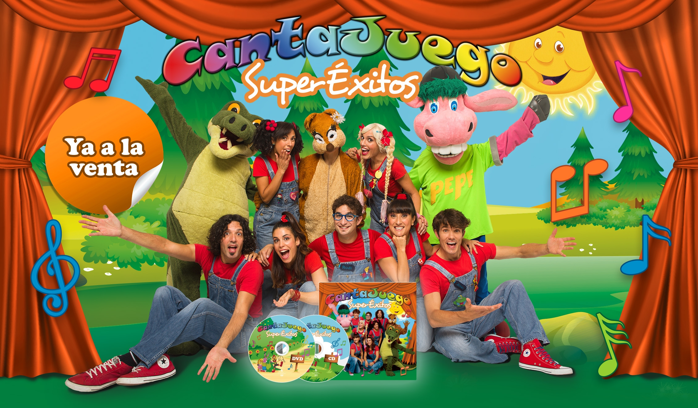 Ya a la venta NUEVO DVD+CD+ LIBRO de CantaJuego SuperÉxitos