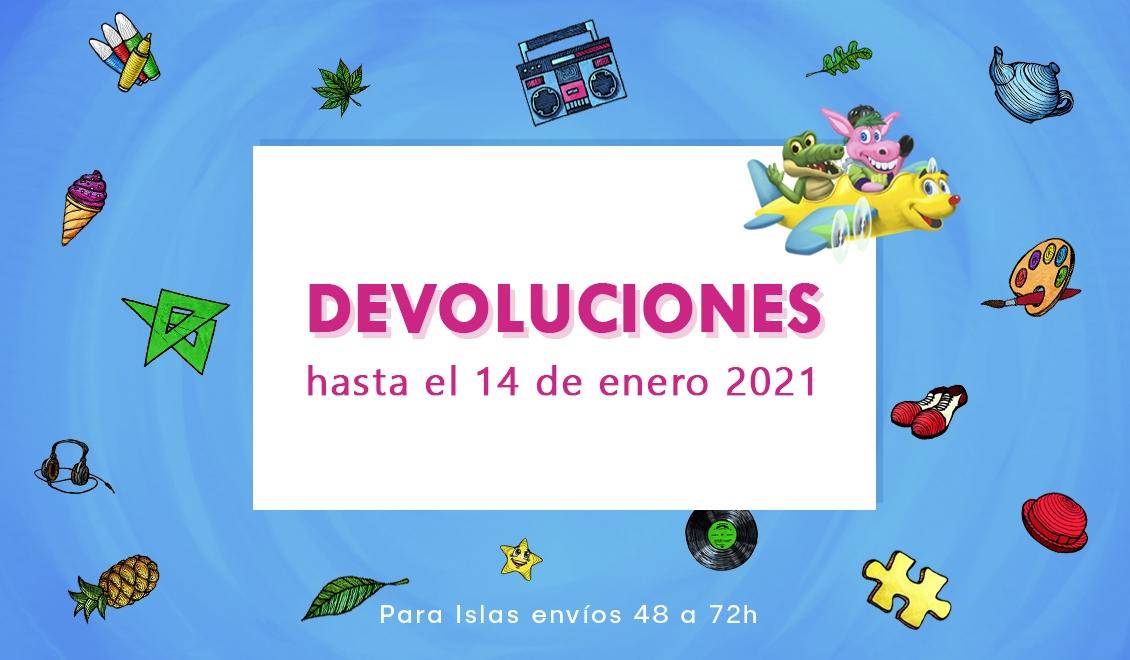 DEVOLUCIONES HASTA 14 de ENERO 2021 para pedidos de diciembre 2020