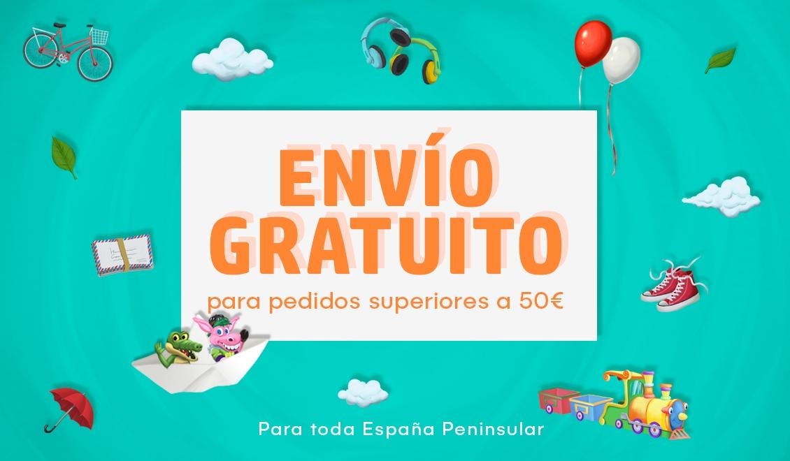 ENVÍO GRATUITO para pedidos superiores a 50€ - para España peninsular