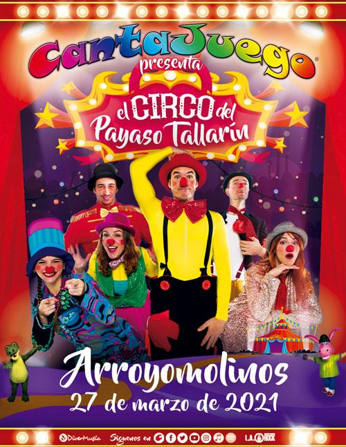 CantaJuego - El Circo del Payaso Tallarín en Arroyomolinos
