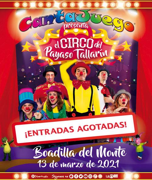 CantaJuego - El Circo del Payaso Tallarín en Boadilla del Monte