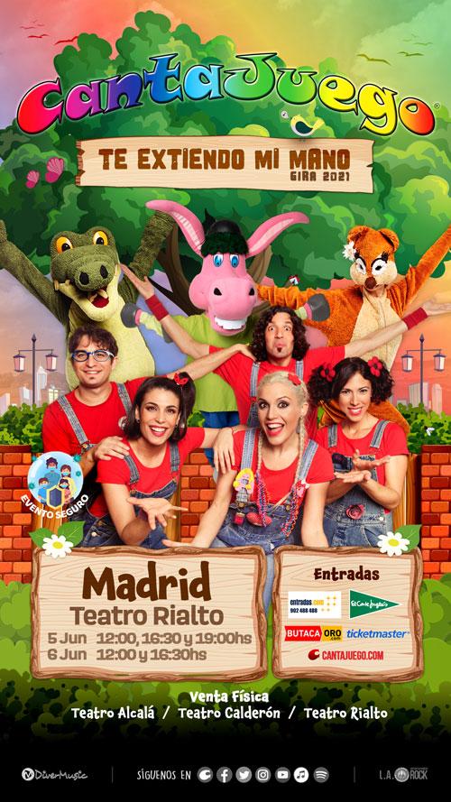 CantaJuego en Madrid el 5 y 6 de Junio