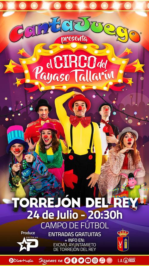 El Circo del Payaso Tallarín en Torrejón del Rey el 24 de Julio