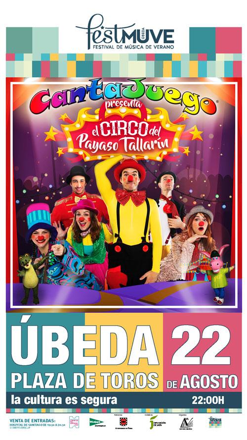 El Circo del Payaso Tallarín en Úbeda el 22 de Agosto