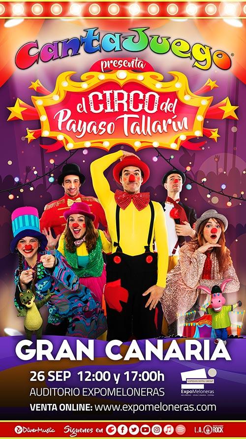 El Circo del Payaso Tallarín en Gran Canaria