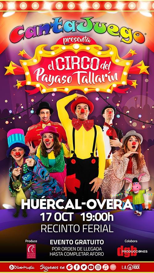 El Circo del Payaso Tallarín en Huércal-Overa